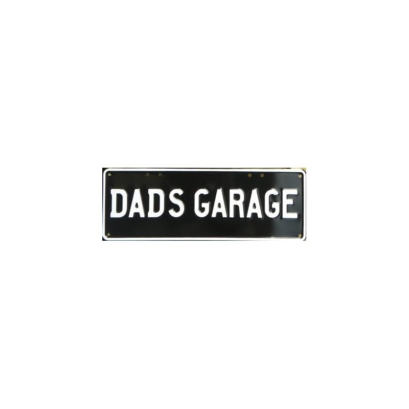 Dad's Garage Novelty Number Plate